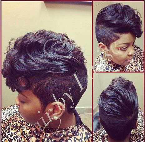shaved sides curly weave mohawk hairstyles for black women kinky curly relaxed extensions board gorgeous hair