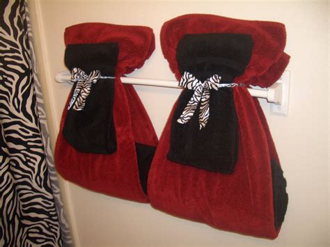bathroom towel display on decorative bathroom