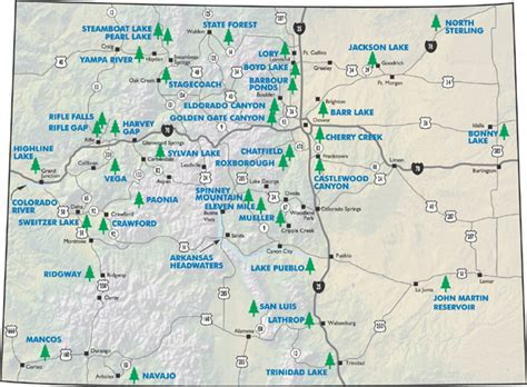 state parks in colorado map colorado state and national parks