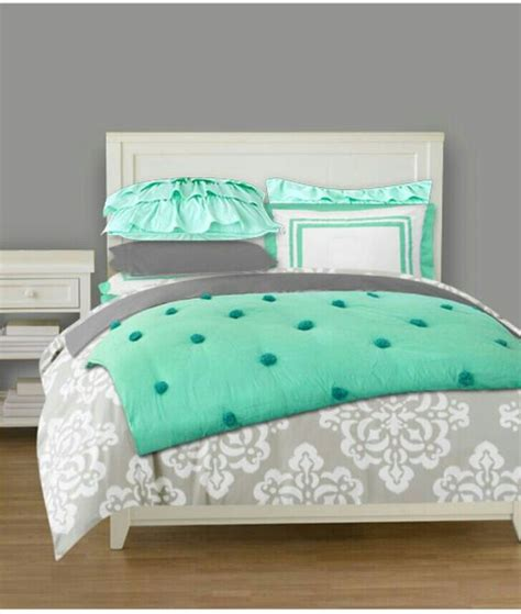 grey and mint bedding love these colors mint and grey bedding for a teen girl s