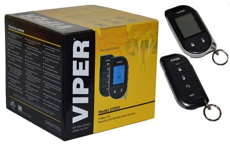 viper alarm mobile 2 way car pager security system remote