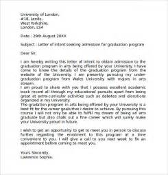 Letter Of Intent Sle Academic Position Letter Of Intent Graduate School 9 Documents In Pdf Word