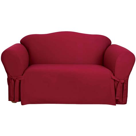 heavyweight cotton duck one piece sofa slipcover sure fit heavyweight cotton duck one piece sofa slipcover