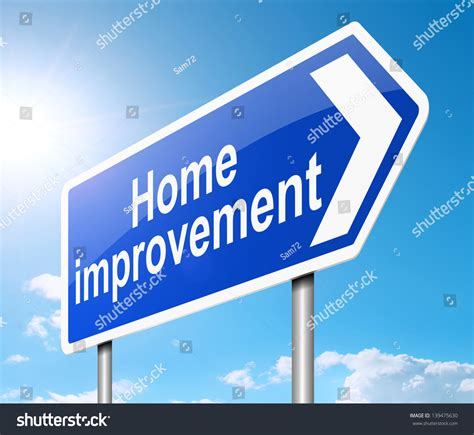 illustration depicting sign home improvement concept stock