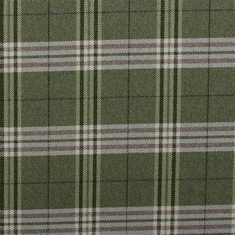 Traditional Tartan Check Soft Twill Cotton Faux Wool