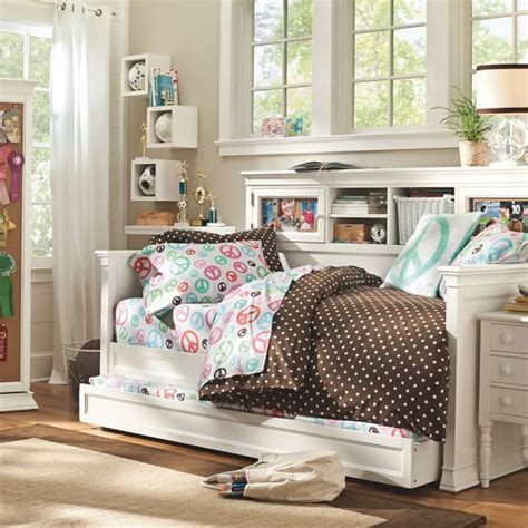 pb teen beds display it daybed trundle pbteen