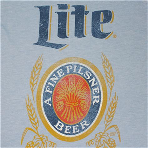 miller light t shirt buy official miller lite logo s light blue t shirt