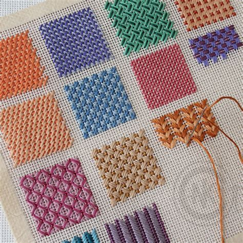 needlepoint stitches stitch variations needleknowledge needlepoint pinterest