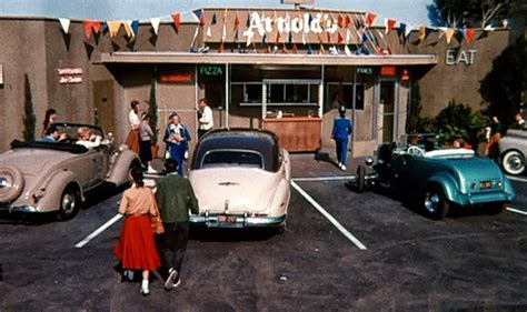 Happy Day Set just a car the opening of happy days rods and a drive up rollerskate burger