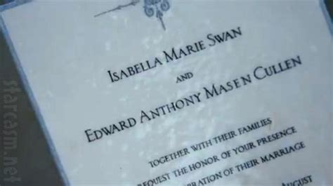 twilight saga wedding invitation twilight breaking trailer released early updated working again starcasm net