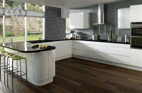white kitchen black worktop white gloss kitchen with black worktops search