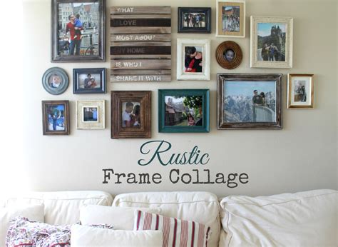 how to make a collage frame make it cozee living room progress rustic frame collage
