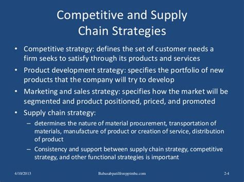 Material Management Ppt For Mba by Supply Chain Performance Achieving Strategic Fit And Scope