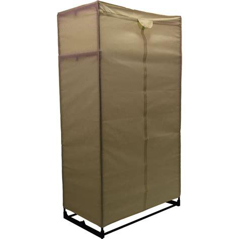 Green Canvas Wardrobe - storage large wardrobe fabric canvas hanging rail