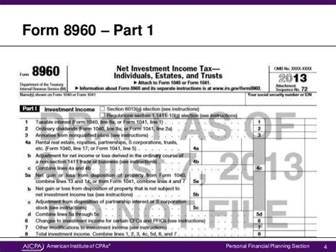 irs section 1411 explore the new irs form for net investment income tax