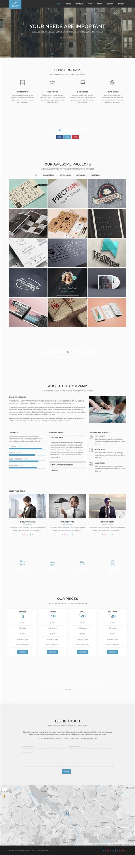 theme of design by frost frost a premium multipurpose wordpress theme