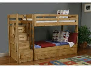 Twin Over Full Bunk Bed With Stairs And Desk Furniture Oak Full Size Bunk Bed With Removable Ladder