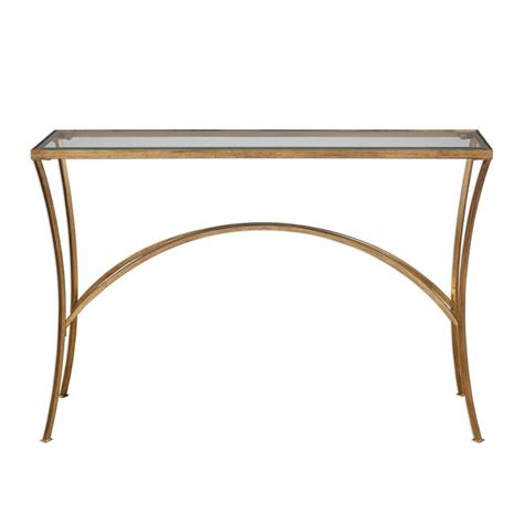gold console table uttermost alayna gold console table 24640 clockshops