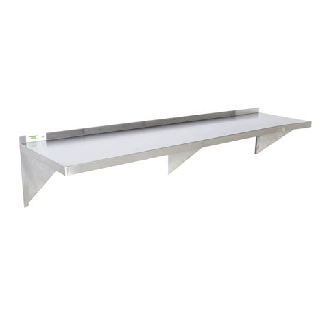 Stainless Steel Shelfs regency 16 stainless steel 18 quot x 96 quot heavy duty wall shelf