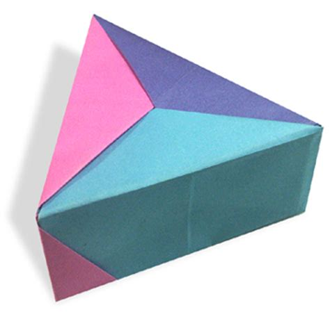 Triangle Origami Box - image gallery triangle box