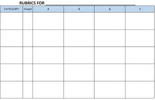 elementary rubric template ready made rubrics assessment tools for performance task