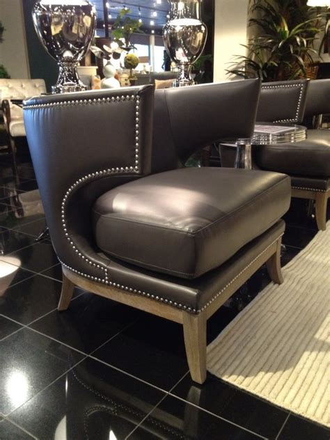 leather upholstery trim this leather accent chair has an immaculate looking