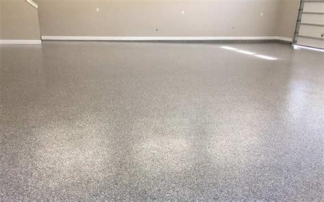 garage floor coating double broadcast random flakes advance industrial coatings