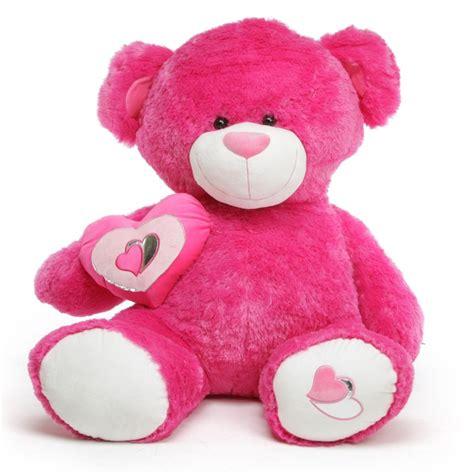 Ms. ChaCha Big Love Giant Hot Pink Teddy Bear 56 in - More ... Giant Pink Teddy Bear