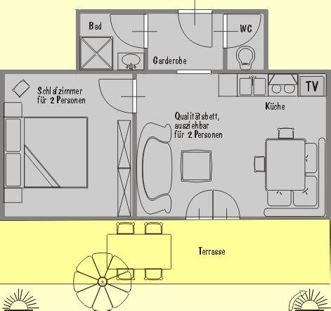2 schlafzimmer 2 bath apartment grundrisse wohnung nr 2 f 252 r 4 personen im apartmenthaus kristall in