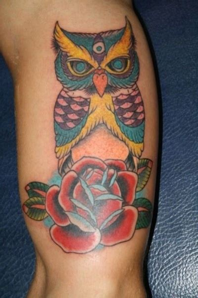 colorful owl tattoos 17 best ideas about colorful owl on