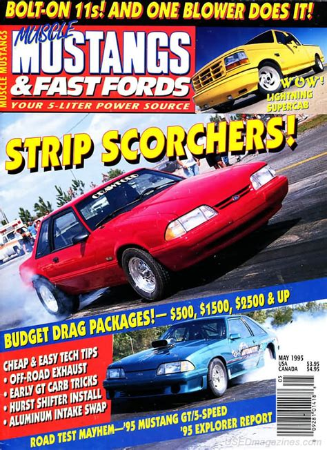 mustangs and fast fords back issues backissues mustangs fast fords may 1995