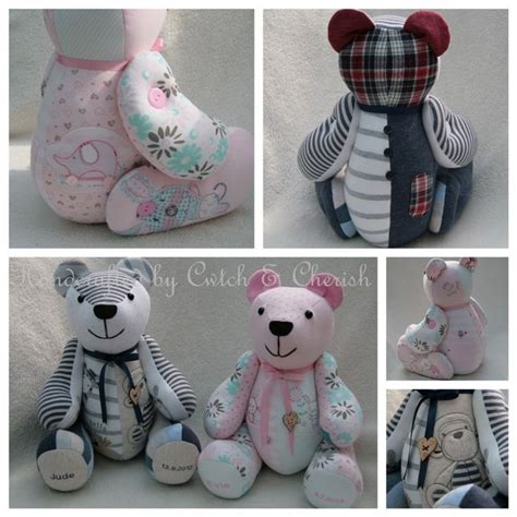 Handmade Teddy Bears From Clothes - 98 best memory bears bunnies dogs images on