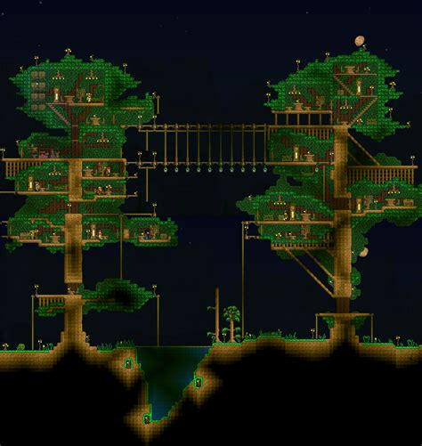 Made a tree house a while back, forgot to post : Terraria