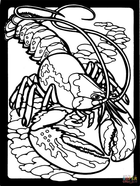 lob star coloring page clawed lobster coloring page free printable coloring pages