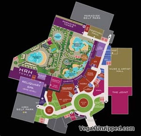 layout of hard rock hotel las vegas las vegas hotel and casino property maps list
