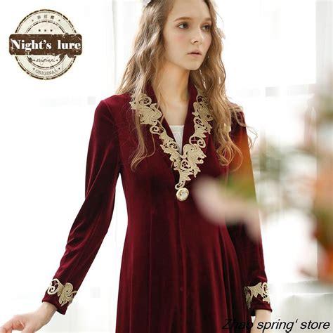 robe de chambre femme luxe pas cher 2015 peignoir femmes robe robe longue na 239 ssi r 233 v 233 ler nouvelle hiver velours bourgogne