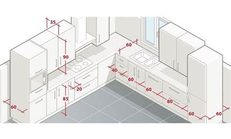 mesures en cuisine dimension de meuble de cuisine cuisine en image