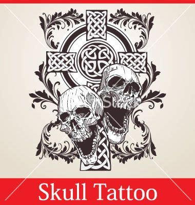 skulls and crosses tattoos skull cross vector in creepy