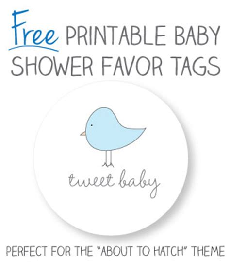 baby shower favor templates free printable baby shower favor tags template my