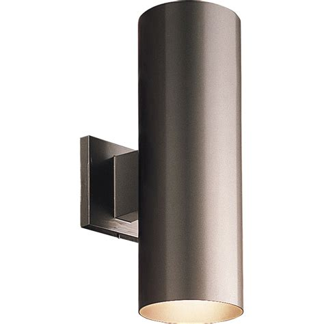 Wall Mount Lighting Fixtures Progress Lighting P5675 20 Cylinder Outdoor Wall Mount Fixture