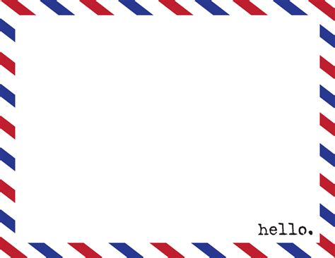 postmarked with love hello airmail