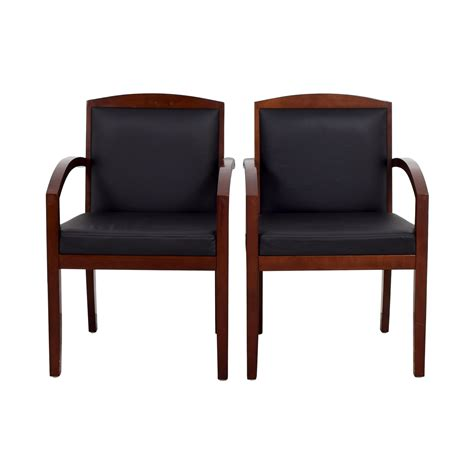 black leather and wood office chairs 90 black leather and wood chairs chairs