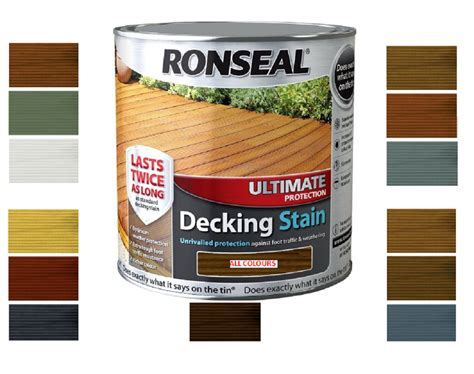 ronseal ultimate protection decking stain rich colours