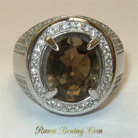 Batu Cincin Smoky Quartz jual cincin pria batu permata smoky quartz silver 925
