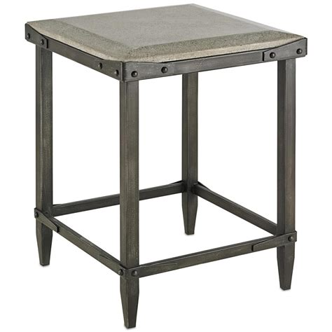 Concrete Side Table Decatur Industrial Loft Concrete Antique Steel Side Table Kathy Kuo Home