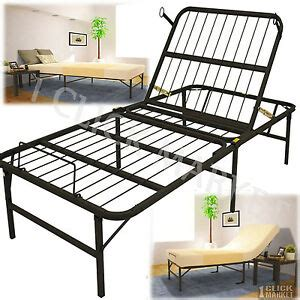 xl size adjustable lift bed frame easy foundation metal base ebay