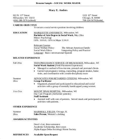 sle social worker resume 10 exles in word pdf