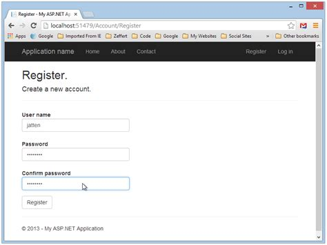 registration template for asp net code first migration and extending identity accounts in