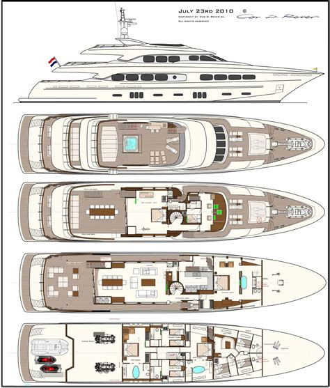 luxury yacht floor plans latitude yacht for sale layout dutch yacht superyachts com