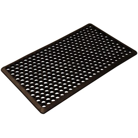 axton honeycomb rubber mat 450x750mm black bunnings
